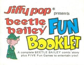 King Features Comics's Jiffy Pop Fun Booklet Issue beetle bailey
