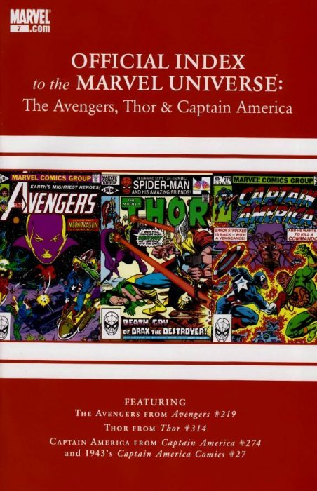 Official Index to the Marvel Universe: Avengers, Thor & Captain