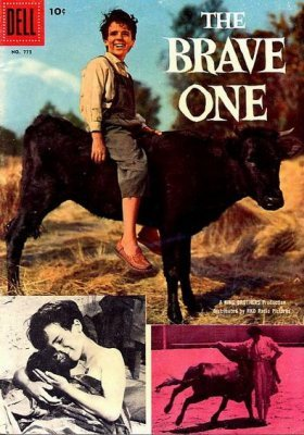 DELL 4 COLOR COMICS 773 THE BRAVE ONE FILM PIC COVER MATADORS 1957 SILVER AGE