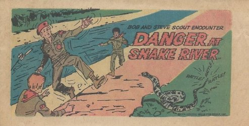 Kenner's Bob and Steve Scout Encounter Danger at Snake River Issue nn