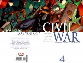 Marvel Comics's Civil War Issue # 4