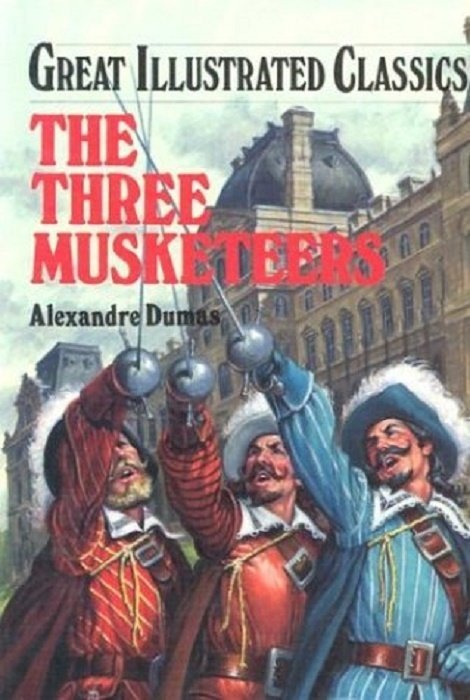 Great Illustrated Book Covers : Great illustrated classics the three musketeers hard