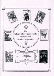 J.G. Huckenpohler's Edgar Rice Burroughs Collector's Pocket Checklist Issue # 6