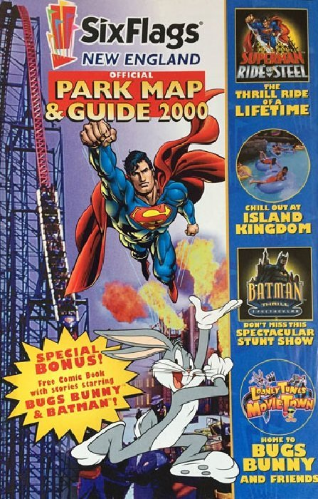Six Flags: Official Park Map & Guide 2000 Issue # 1astroworld (DC ...