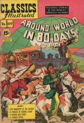 Gilberton Publications's Classics Illustrated #69: Around the World in 80 Days Issue # 3