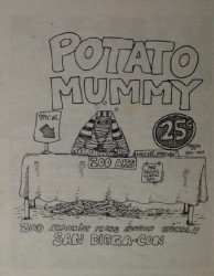 Zoo Arsonist Press's Potato Mummy Issue ashcan