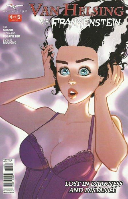4A cover Van Helsing Vs Frankenstein #4 ~ Zenescope comic
