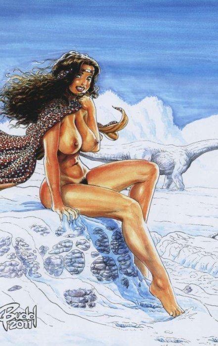 Black nude cave women Cavewoman Snow Issue 2c Black Canvas Studios