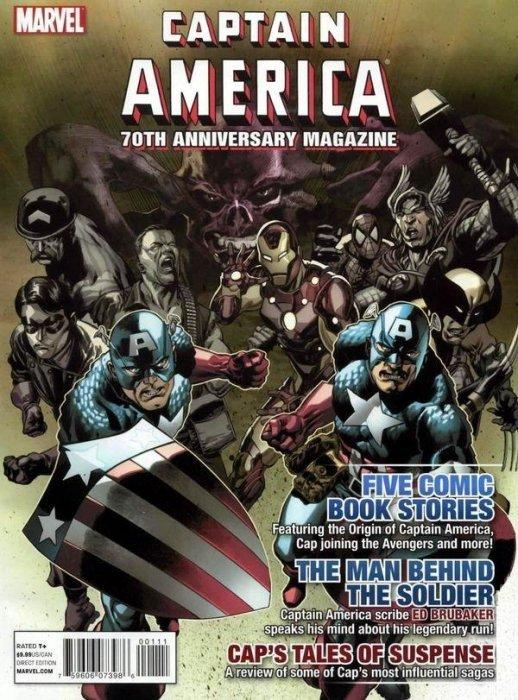 Captain america 70th anniversary magazine 1 marvel for Anniversary magazine