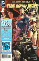 DC Comics's New 52: Free Comic Book Day Issue # 1texas toyz