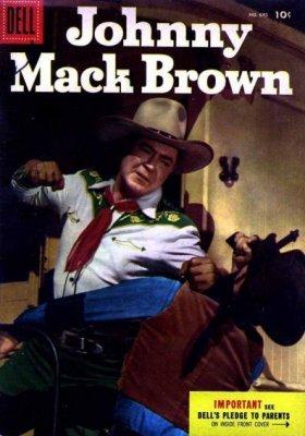 DELL 4 COLOR COMICS 776 JOHNNY MACK BROWN PIC COVER WESTERN 1957 SILVER AGE