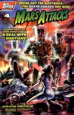 Mars Attacks 4 Topps Comics 1996