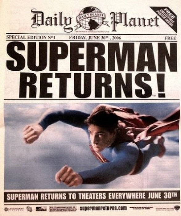 Free Comic Book Day Values: Daily Planet: Superman Returns 1 (DC Comics