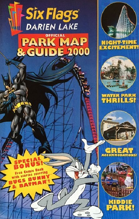Six Flags: Official Park Map & Guide 2000 1darien lake (DC Comics ...