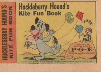 Western Printing Co.'s Huckleberry Hound: Kite Fun Book Issue # 1pg&e
