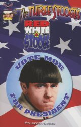 American Mythology's Three Stooges: Red White & Stooge Issue # 1c