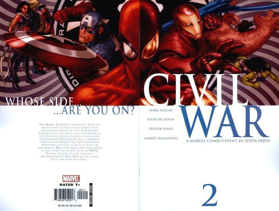 civil war 1 marvel comics. Black Bedroom Furniture Sets. Home Design Ideas