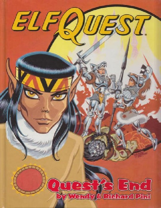 Book Cover Craft Quest ~ Elfquest graphic novel series hard cover father tree