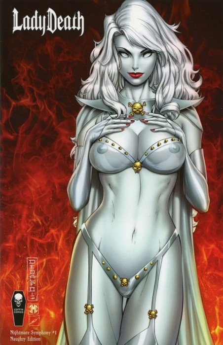NM Lady Death Nightmare Synphony # 2 Maria Sanapo Variant Cover Edition !!