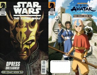 Dark Horse Comics's Avatar the Last Airbender / Star Wars: Clone Wars Issue # 1