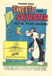 Western Printing Co.'s Tweety and Sylvester: Kite Fun Book Issue # 1sce