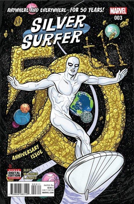 the silver surfer 50 50th anniversary edition