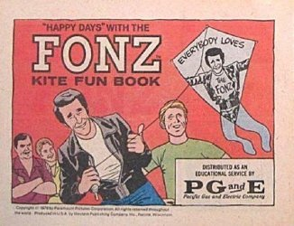 Western Printing Co.'s Happy Days with the Fonz: Kite Fun Book Issue # 1pg&e