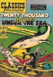 Gilberton Publications's Classics Illustrated #47: Twenty Thousand Leagues Under the Sea Issue # 4