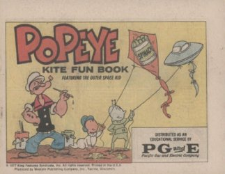 Western Printing Co.'s Popeye: Kite Fun Book Issue # 1pg&e