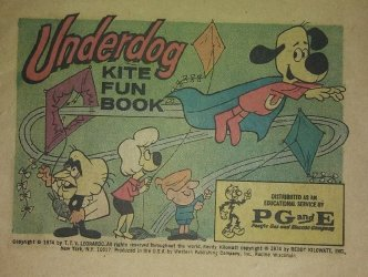 Western Printing Co.'s Underdog: Kite Fun Book Issue # 1pg&e