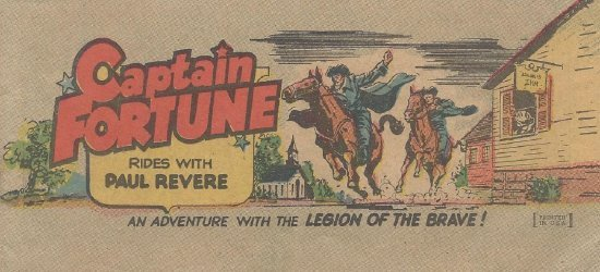 Vital Publications's Captain Fortune Rides with Paul Revere Issue nn