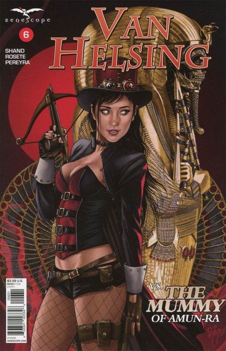~ Zenescope comic Van Helsing Vs The Mummy of Amun-Ra #5 5D cover