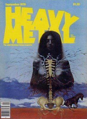 Heavy Metal Nov. 1978 Adult Fantasy Magazine VG MBX17