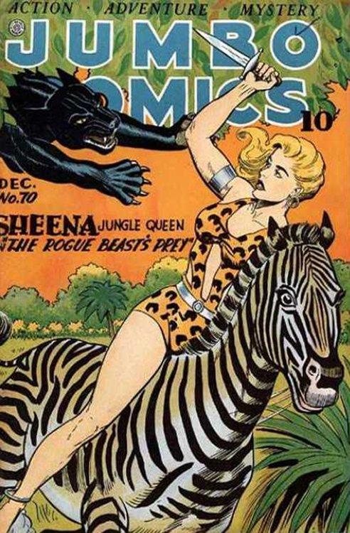 Jumbo Comics, Fiction House, 1930s-1950s, Vintage Golden Age Comics PDF DVD C80