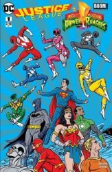DC Comics's Justice League/Power Rangers Issue # 1fried pie-a