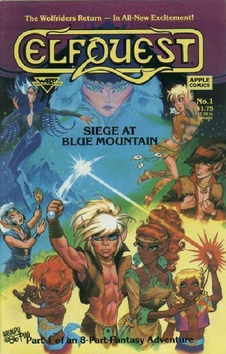 Book Cover Craft Quest : Elfquest siege at blue mountain apple comics