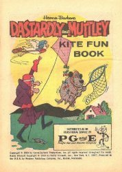 Western Printing Co.'s Dastardly & Muttley: Kite Fun Book Issue # 1pg&e