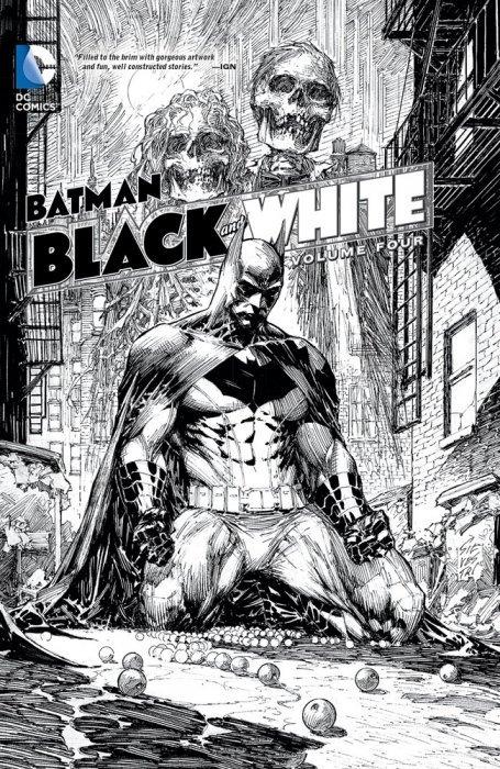 Dc comicss batman black white hard cover 4