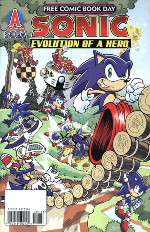 sonic the hedgehog free comic book day 2009 archie comics group