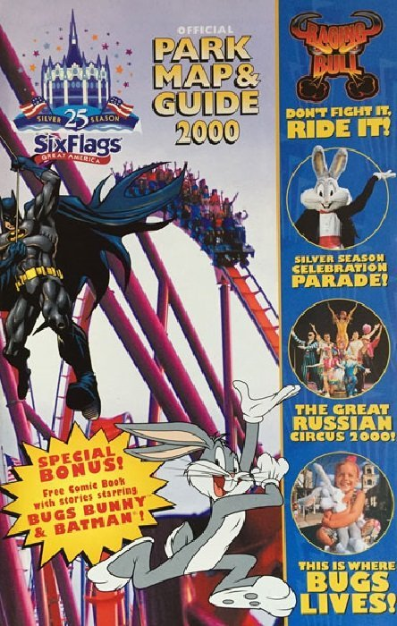 Six Flags Official Park Map Guide 2000 Issue 1 Dc Comics