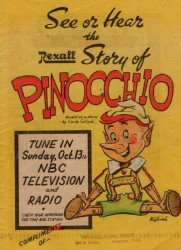 Western Printing Co.'s The Rexall Story of Pinocchio Issue nn