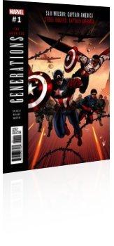 Marvel Comics: Generations: Sam Wilson Captain America & Steve Rogers Captain America - Issue # 1 Cover