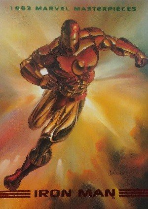 SkyBox Marvel Masterpieces Base Card 4 Iron Man