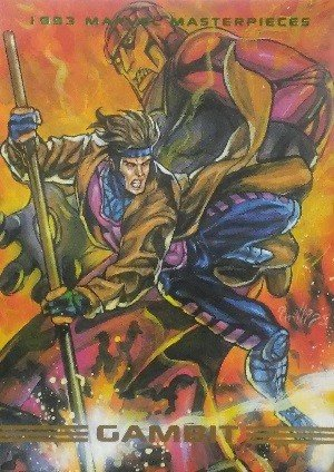 SkyBox Marvel Masterpieces Base Card 31 Gambit