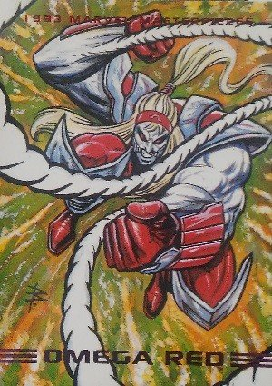 SkyBox Marvel Masterpieces Base Card 54 Omega Red
