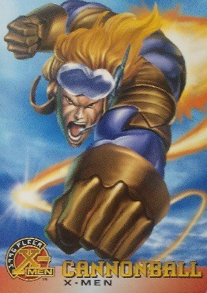 Fleer 1996 Fleer X-Men Base Card 4 Cannonball