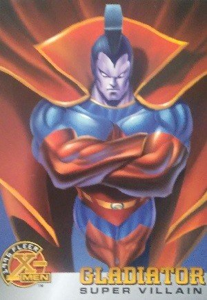Fleer 1996 Fleer X-Men Base Card 65 Gladiator