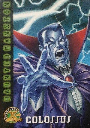 Fleer 1996 Fleer X-Men Base Card 91 Colossus as Count Vampire
