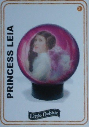 Little Debbie Rancho Obi-Wan Base Card 5 Princess Leia
