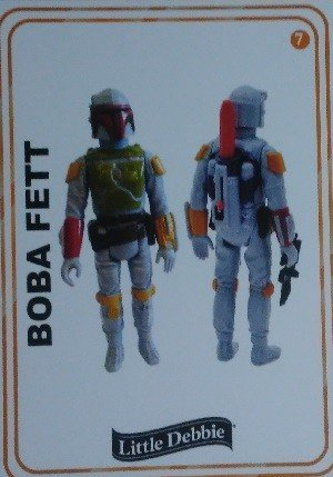 Little Debbie Rancho Obi-Wan Base Card 7 Boba Fett